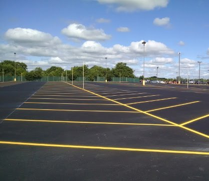 Asphalt Pavement Striping and Marking Services available at Invision Services