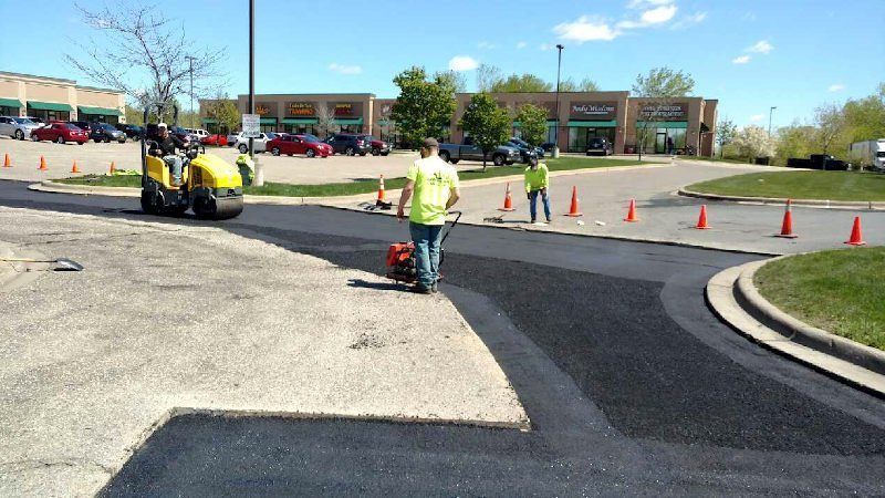 Asphalt Parking Lot Maintenance and Replacement Services available at Invision Services