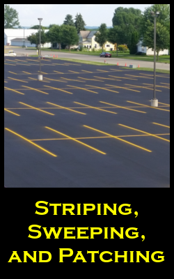 Pavement Striping, Sweeping, and Asphalt Patching Repair Services for the Twin Cities by Invision Services